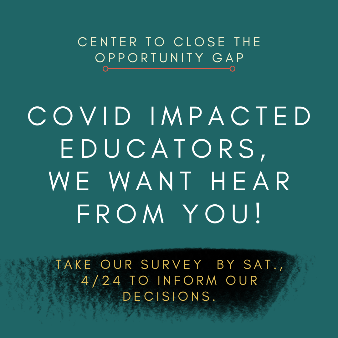 Covid Impacted educators survey flyer